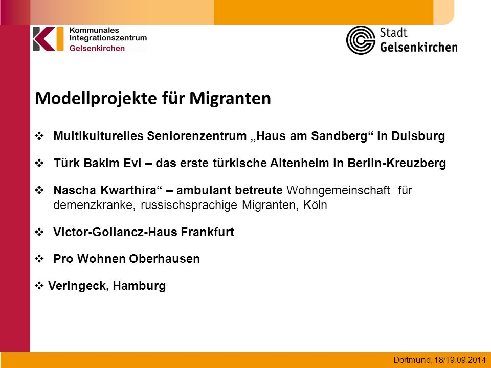 Modellprojekte für Migranten