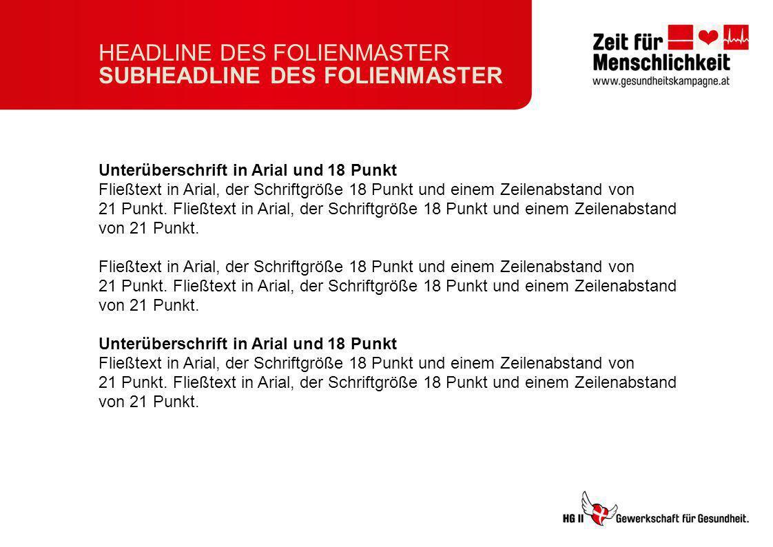 HEADLINE DES FOLIENMASTER SUBHEADLINE DES FOLIENMASTER