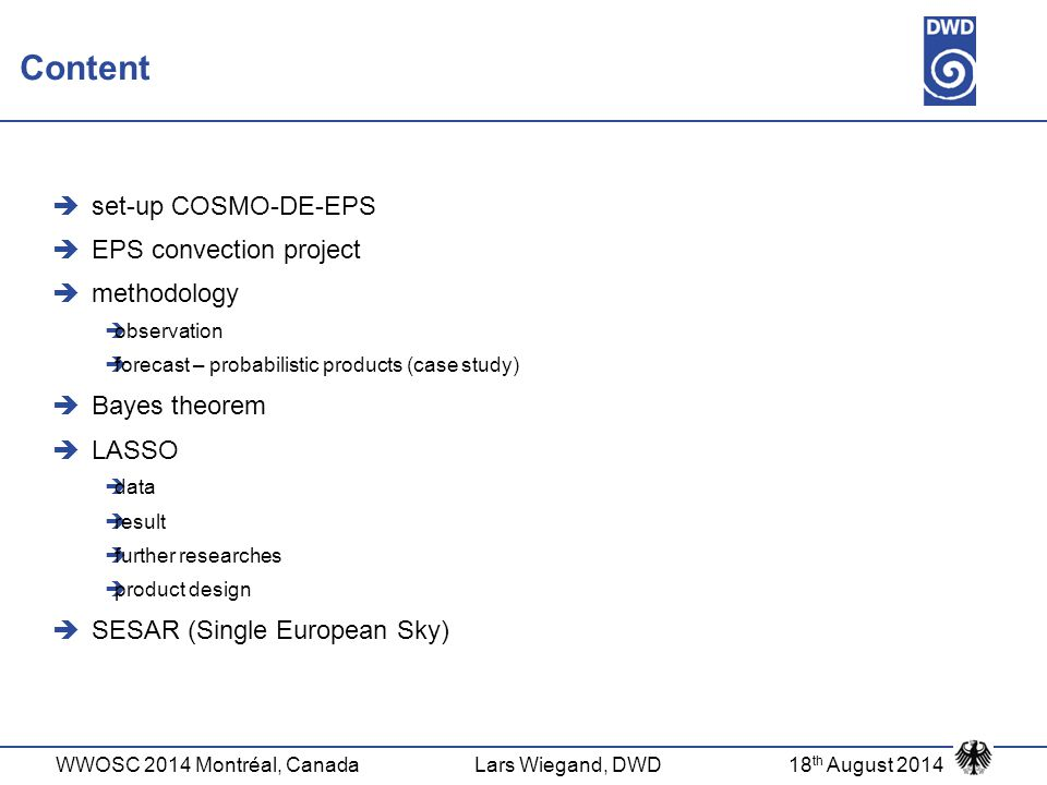 Content set-up COSMO-DE-EPS EPS convection project methodology