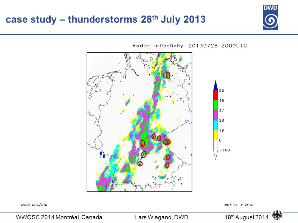 case study – thunderstorms 28th July 2013