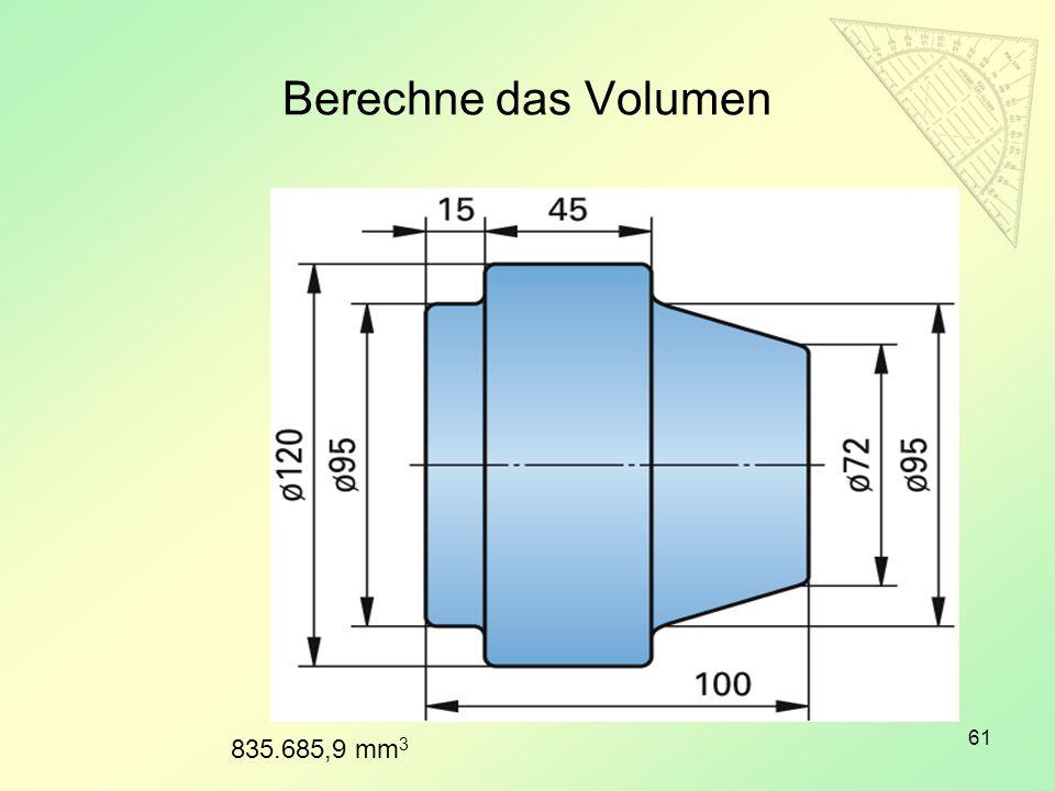 Berechne das Volumen 835.685,9 mm3