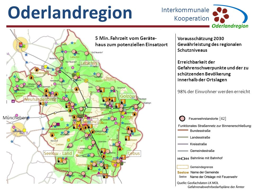 Oderlandregion Interkommunale Kooperation 5 Min. Fahrzeit vom Geräte-