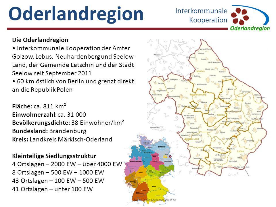 Oderlandregion Interkommunale Kooperation Die Oderlandregion