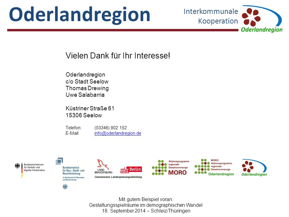 Oderlandregion Interkommunale Kooperation