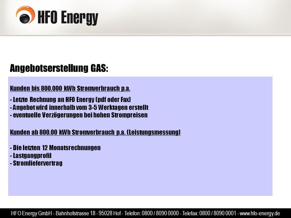 Angebotserstellung GAS: