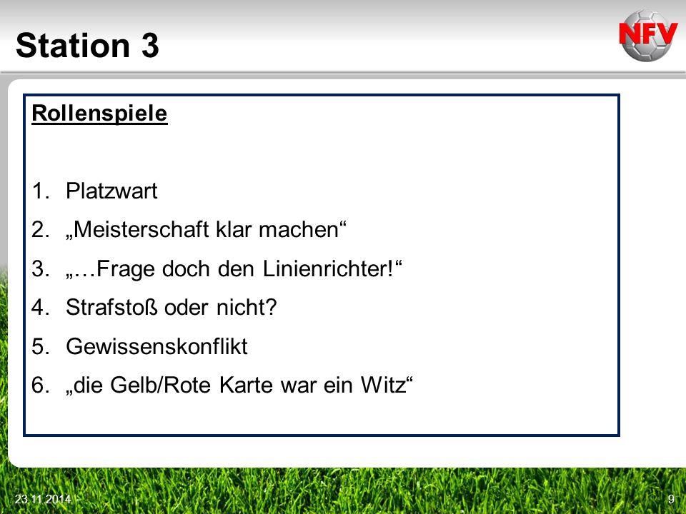 """Station 3 Rollenspiele Platzwart """"Meisterschaft klar machen"""