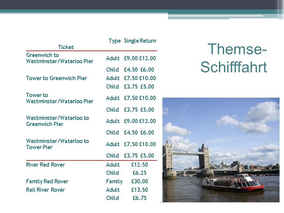 Themse- Schifffahrt