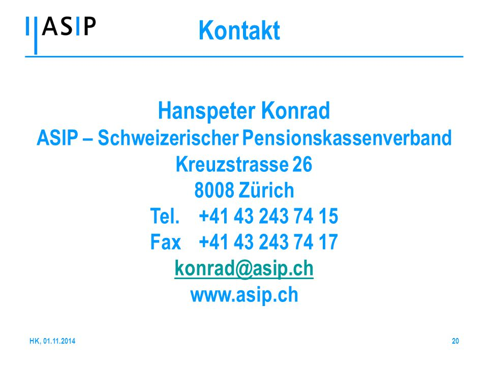 ASIP – Schweizerischer Pensionskassenverband