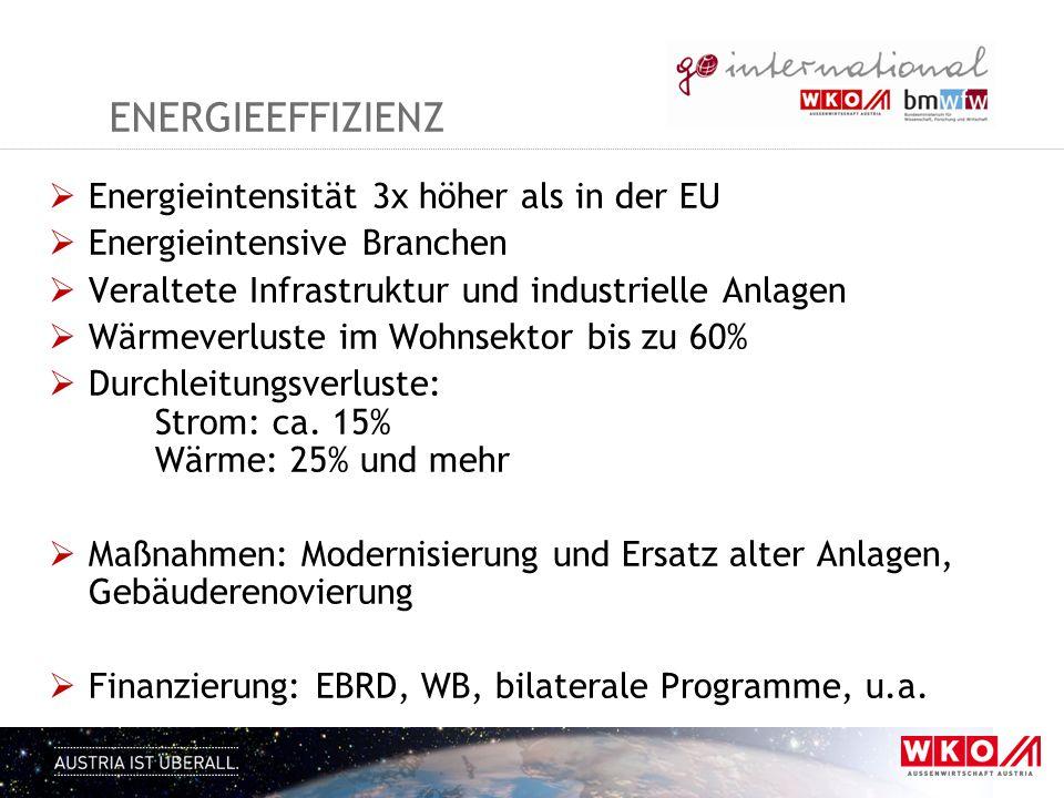 energieeffizienz Energieintensität 3x höher als in der EU