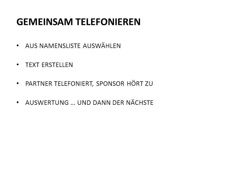 GEMEINSAM TELEFONIEREN