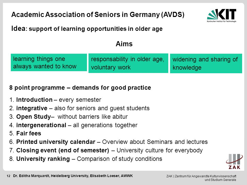 Academic Association of Seniors in Germany (AVDS)