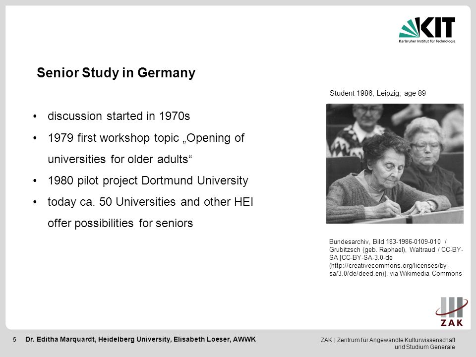Senior Study in Germany
