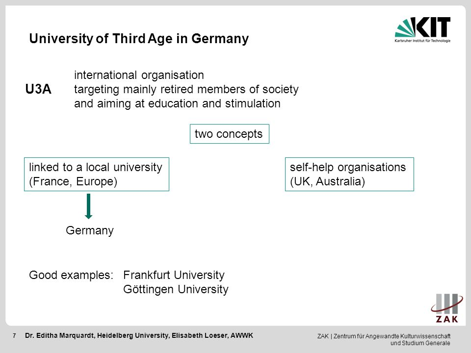 University of Third Age in Germany