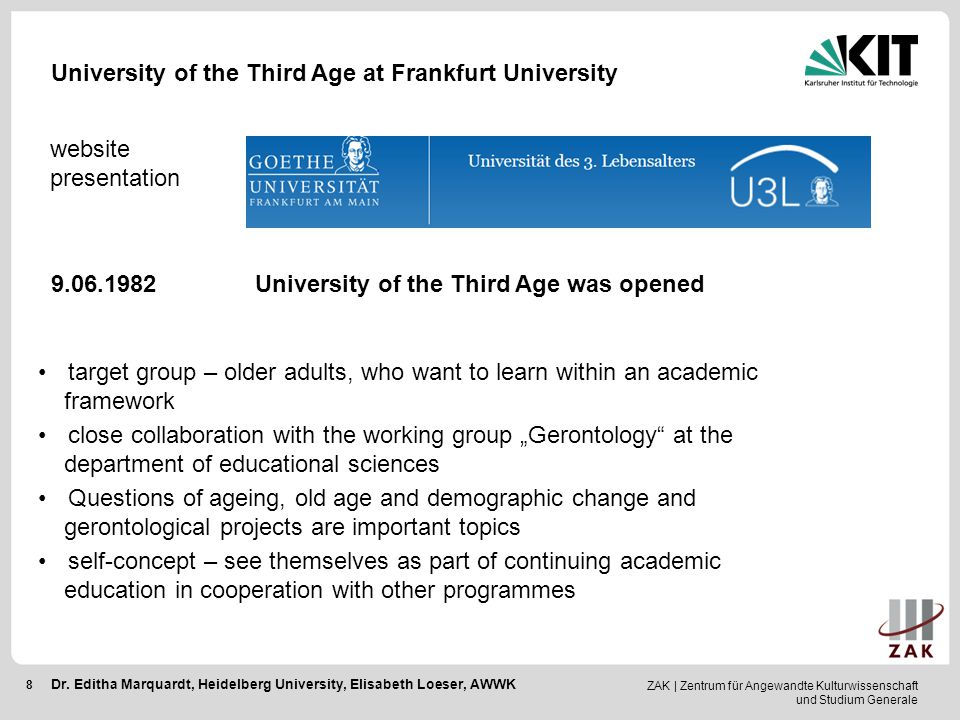 University of the Third Age at Frankfurt University