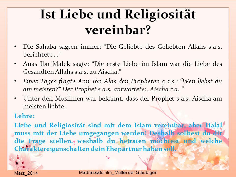 Ist Liebe und Religiosität vereinbar
