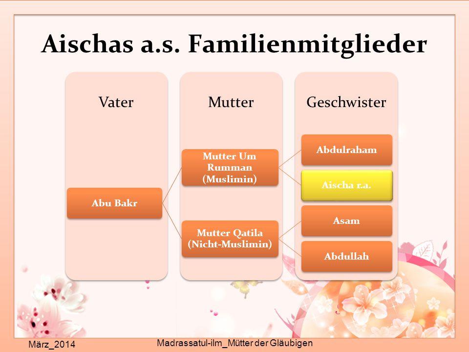 Aischas a.s. Familienmitglieder