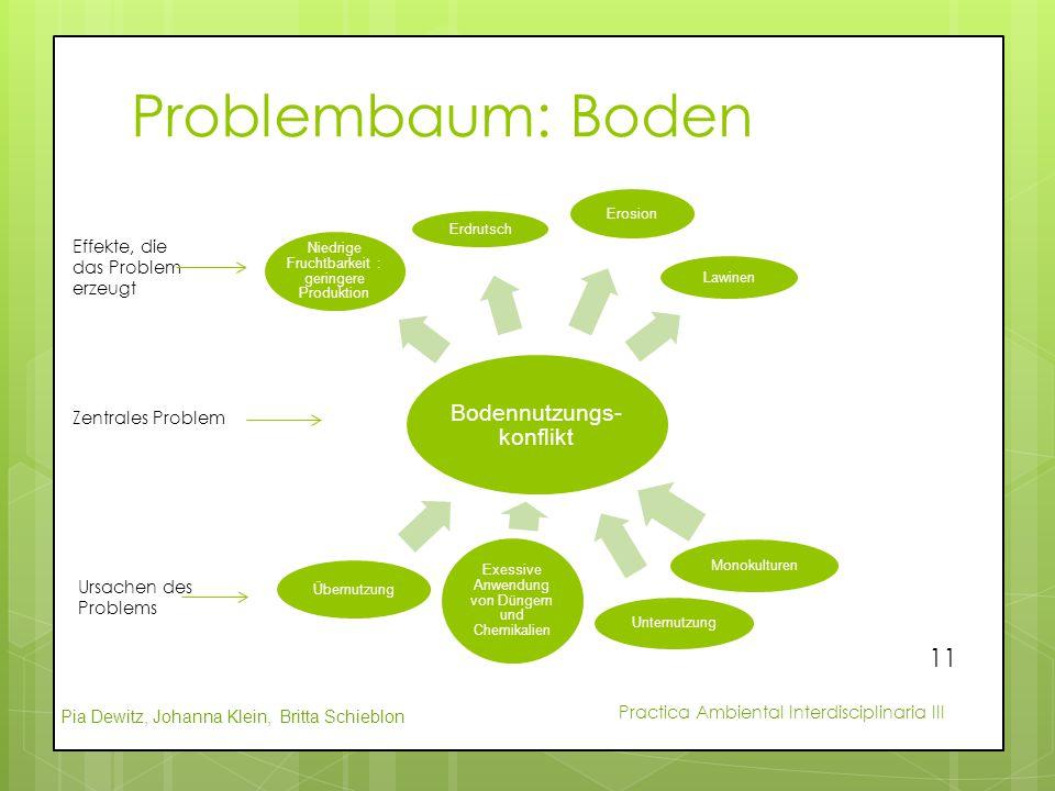 Problembaum: Boden Bodennutzungs-konflikt