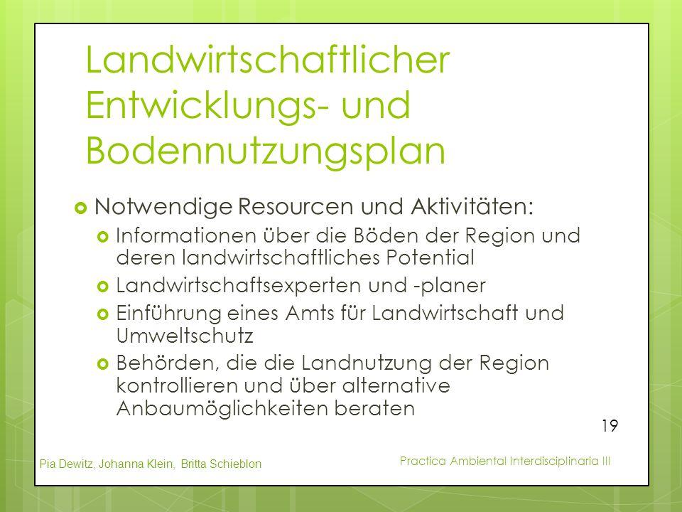 Landwirtschaftlicher Entwicklungs- und Bodennutzungsplan
