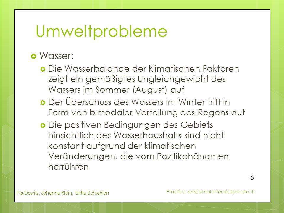 Umweltprobleme Wasser: