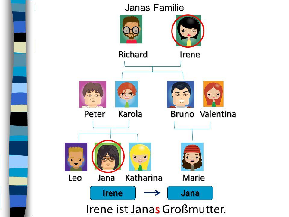 Irene ist Janas Großmutter.