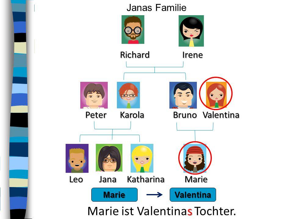 Marie ist Valentinas Tochter.