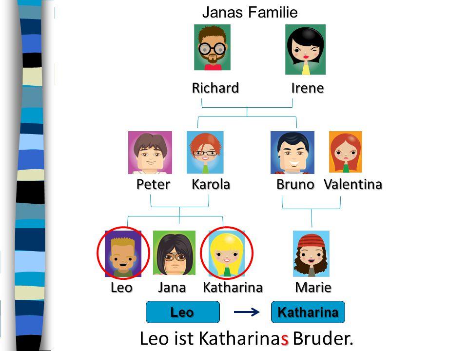 Leo ist Katharinas Bruder.