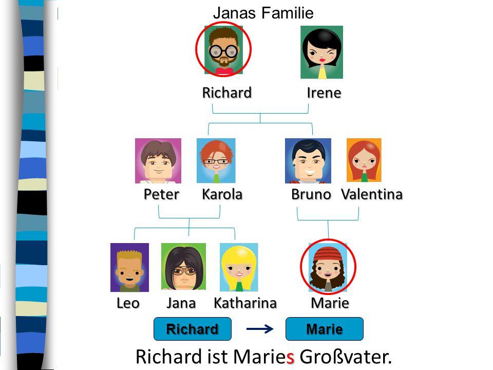 Richard ist Maries Großvater.