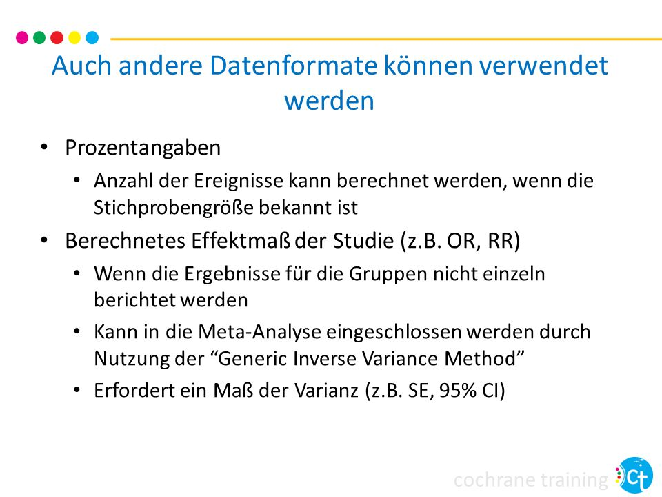 Auch andere Datenformate können verwendet werden