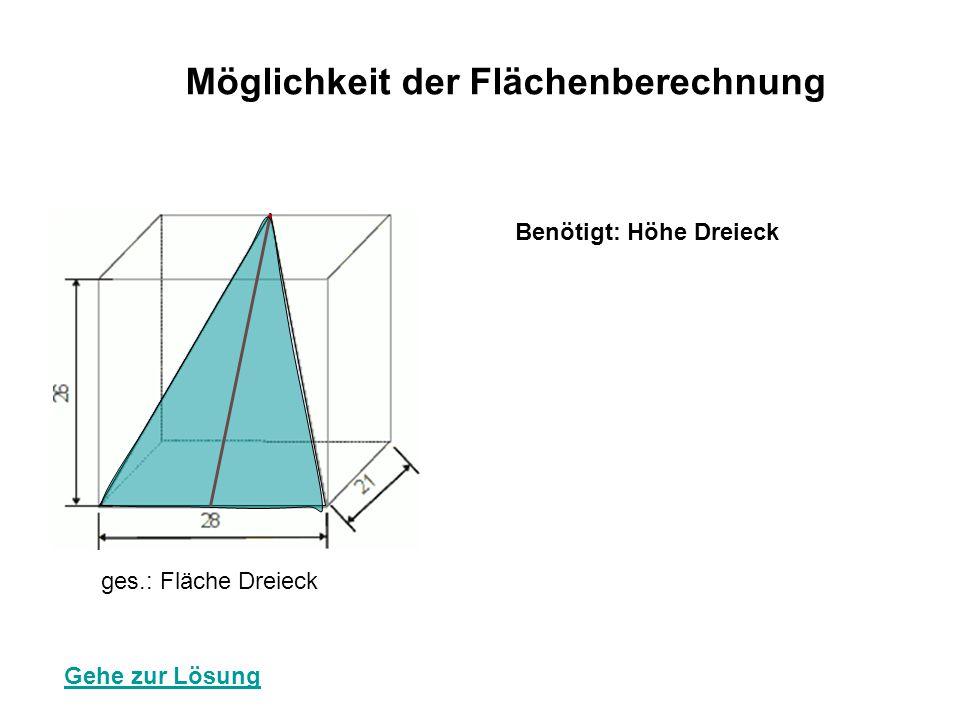 Möglichkeit der Flächenberechnung