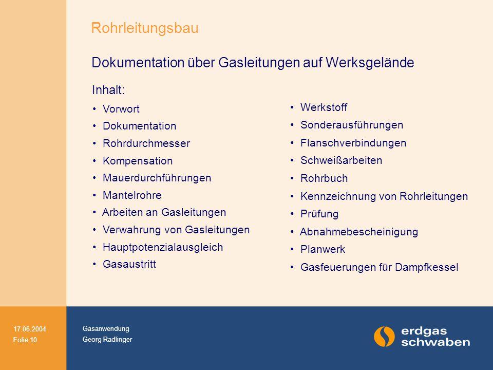Rohrleitungsbau Dokumentation über Gasleitungen auf Werksgelände
