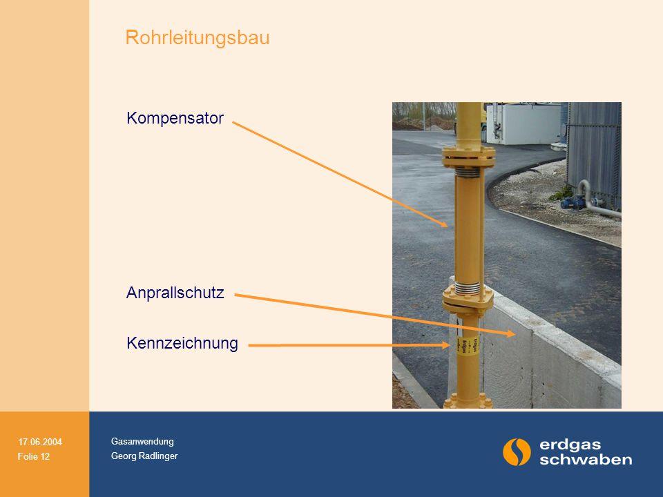 Rohrleitungsbau Kompensator Anprallschutz Kennzeichnung