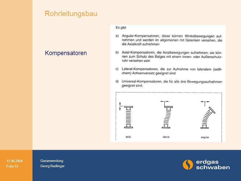 Rohrleitungsbau Kompensatoren