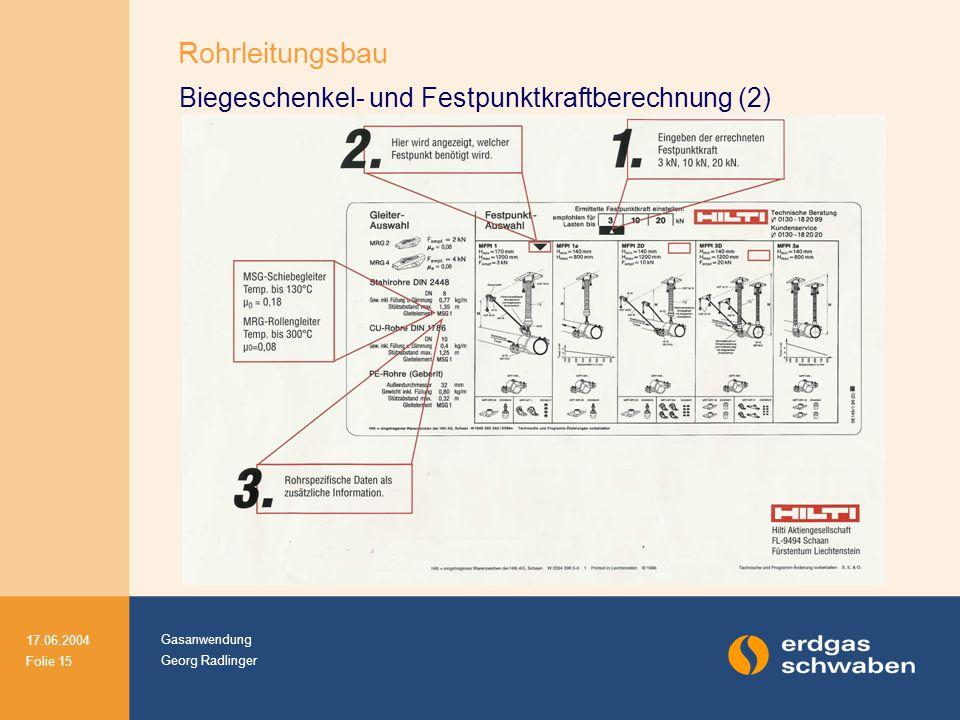Biegeschenkel- und Festpunktkraftberechnung (2)
