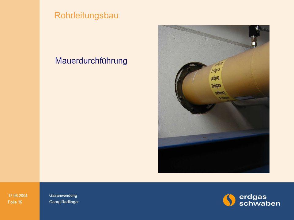 Rohrleitungsbau Mauerdurchführung