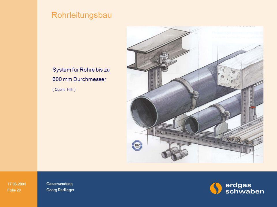 System für Rohre bis zu 600 mm Durchmesser ( Quelle Hilti )
