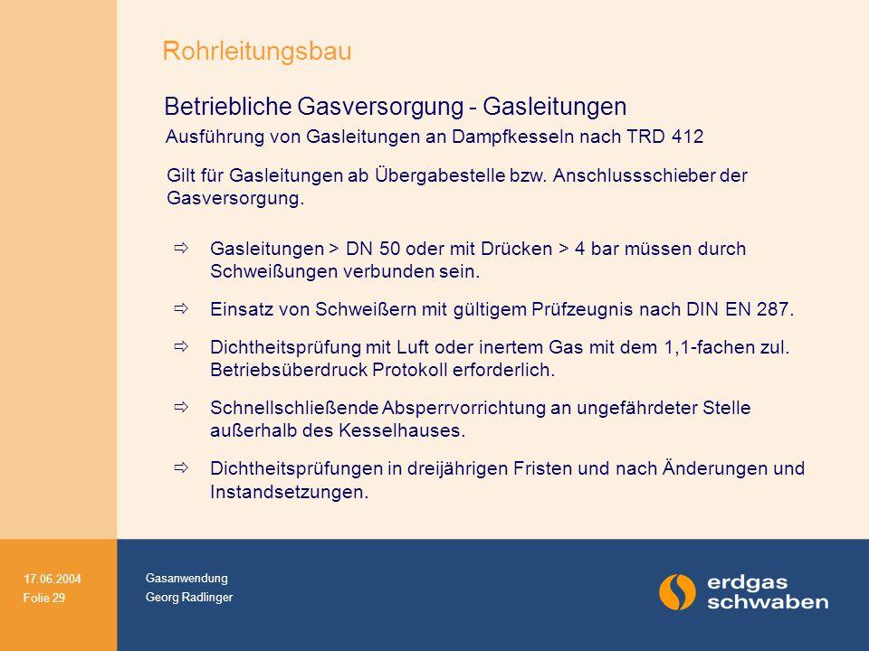 Rohrleitungsbau Betriebliche Gasversorgung - Gasleitungen