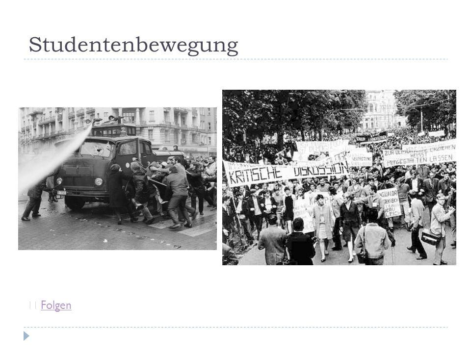 Studentenbewegung Folgen