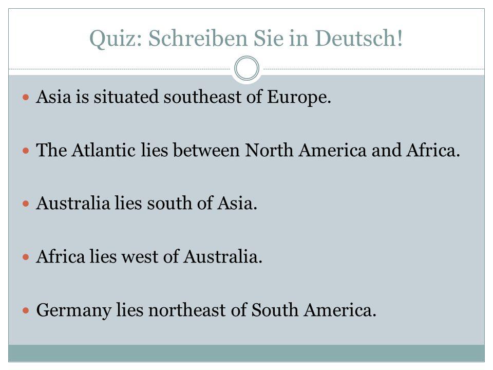 Quiz: Schreiben Sie in Deutsch!