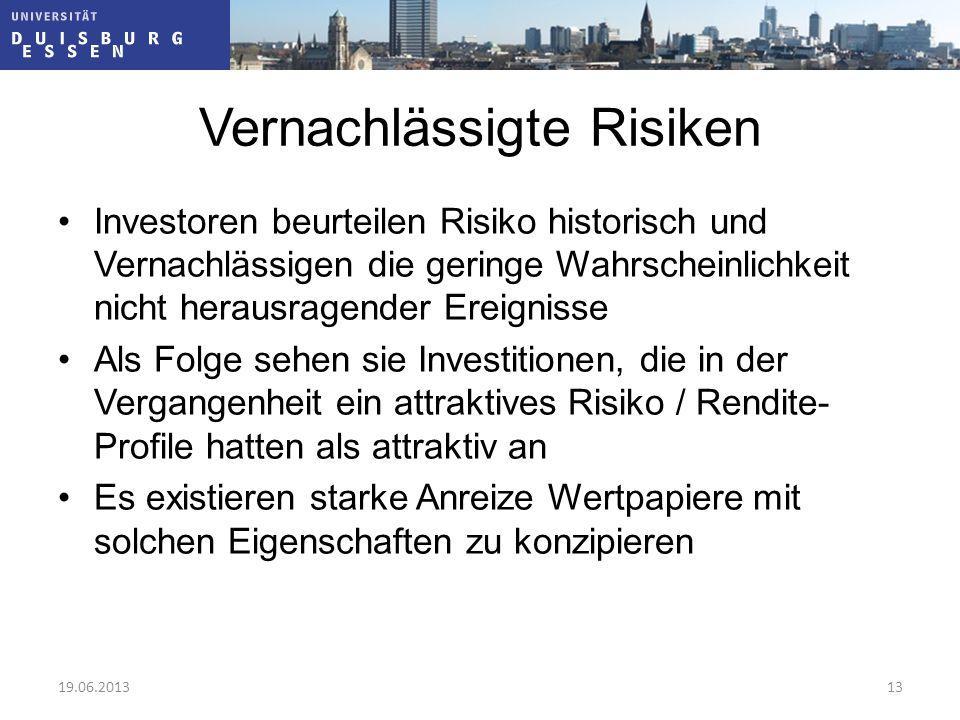 Vernachlässigte Risiken
