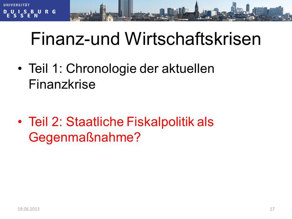 Finanz-und Wirtschaftskrisen