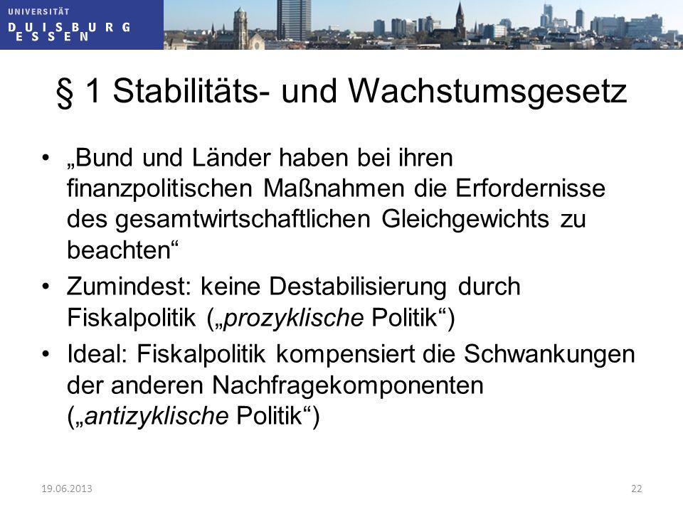 § 1 Stabilitäts- und Wachstumsgesetz