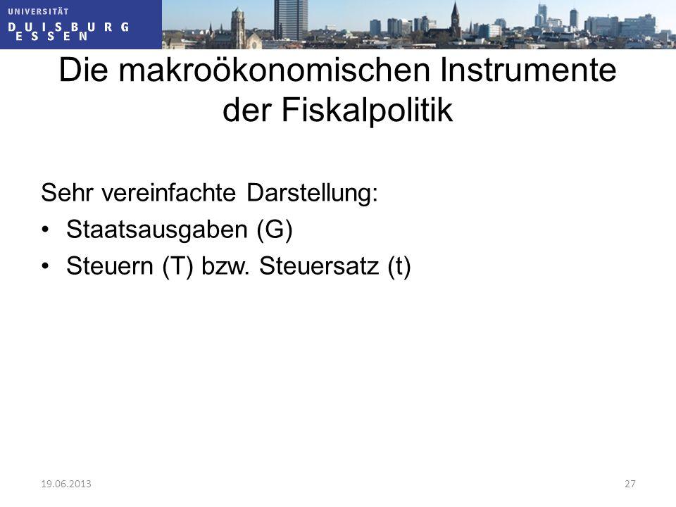 Die makroökonomischen Instrumente der Fiskalpolitik