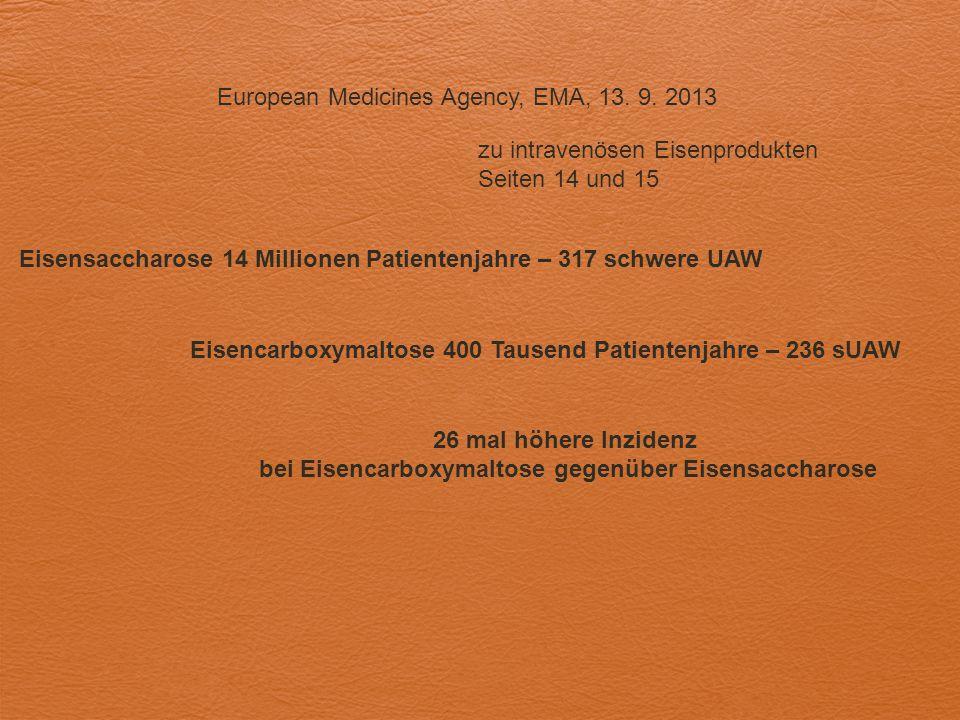 European Medicines Agency, EMA, 13. 9. 2013