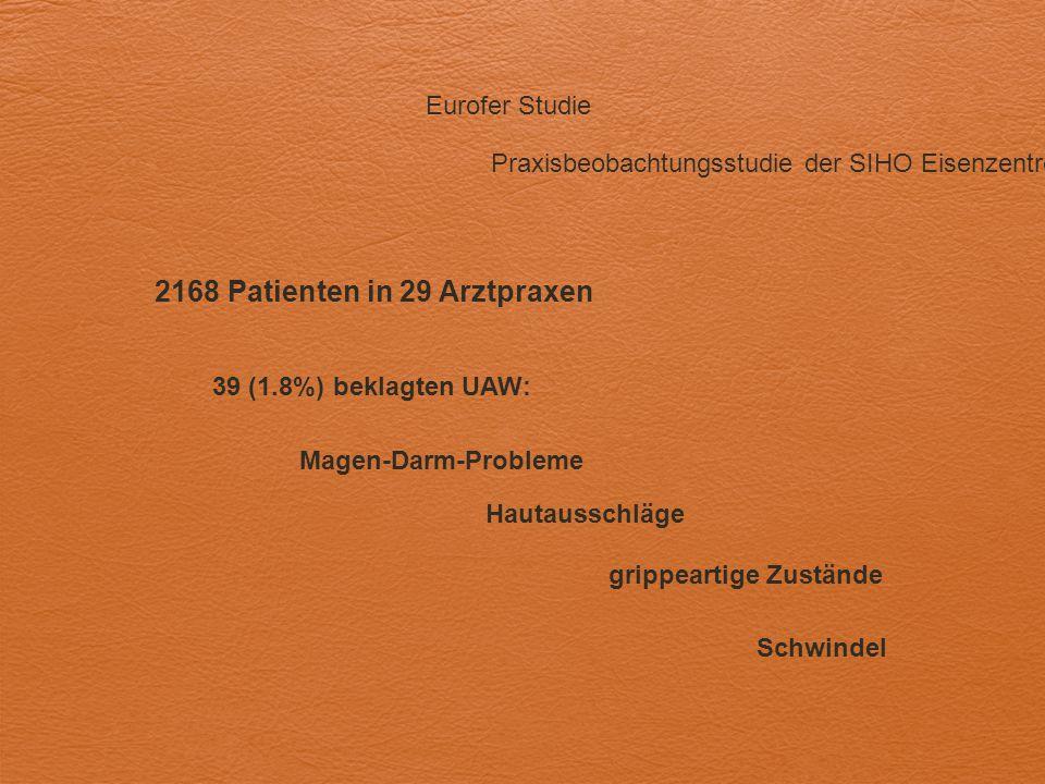 2168 Patienten in 29 Arztpraxen