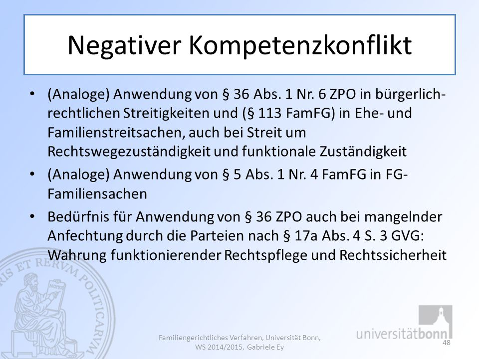 Negativer Kompetenzkonflikt