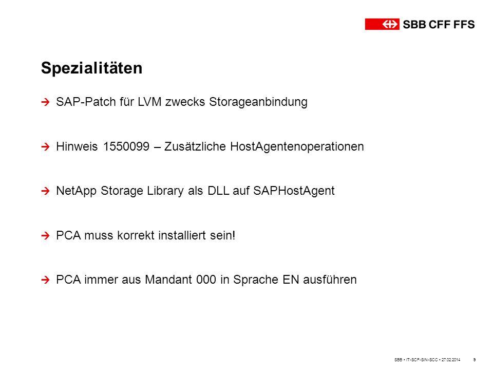 Spezialitäten SAP-Patch für LVM zwecks Storageanbindung