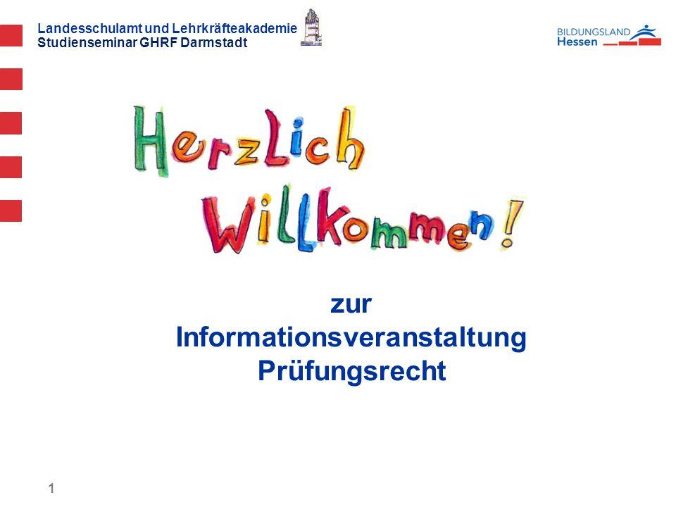 zur Informationsveranstaltung Prüfungsrecht