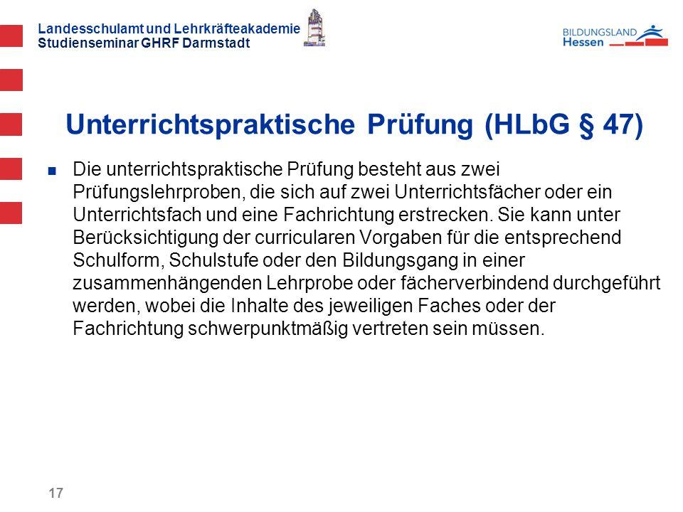 Unterrichtspraktische Prüfung (HLbG § 47)