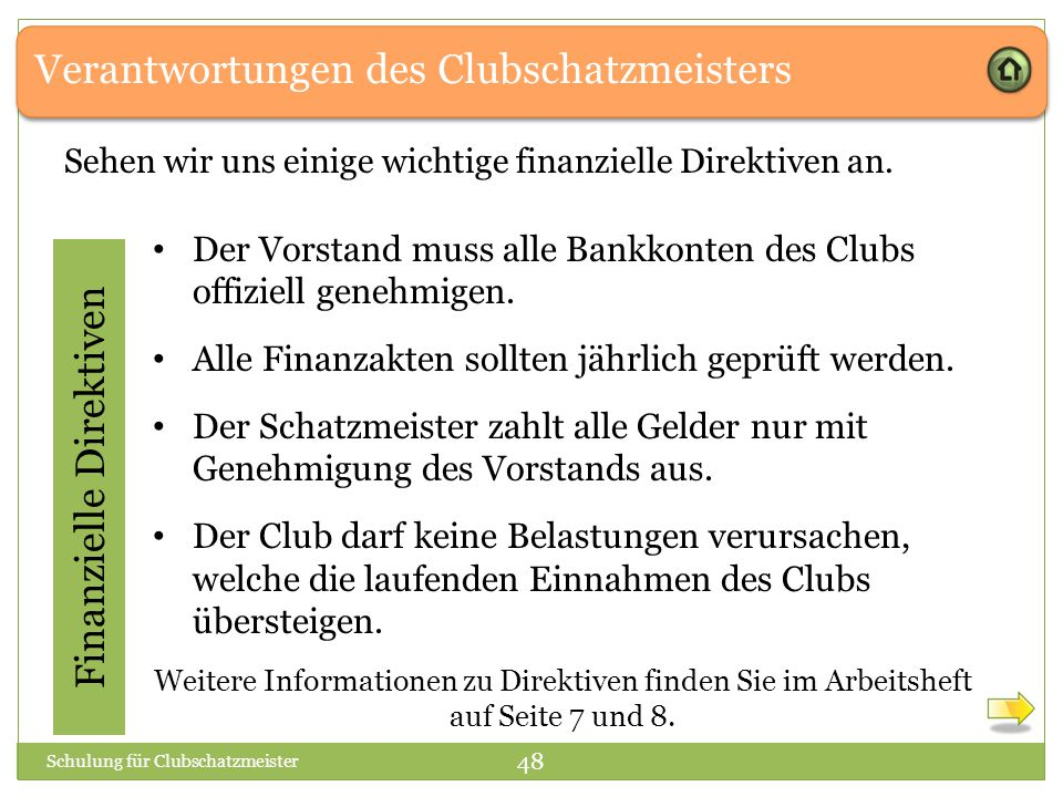 Finanzielle Direktiven