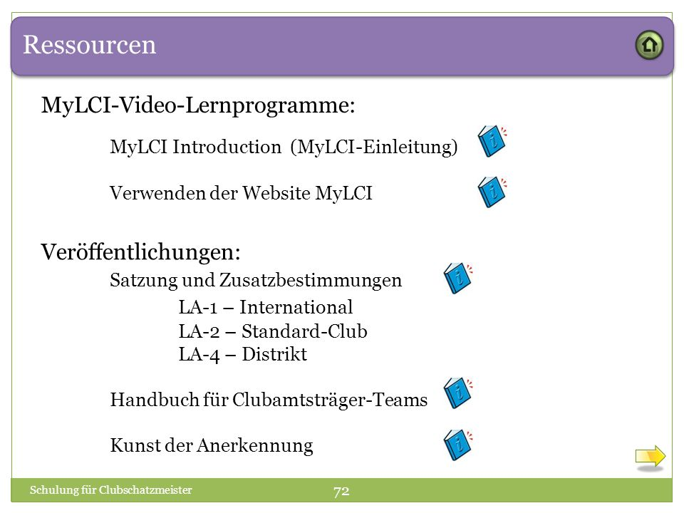 Ressourcen MyLCI-Video-Lernprogramme:
